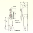 Kapcsoló mechanikus érzékelő személybejáróhoz vagy tolózárhoz  méretek