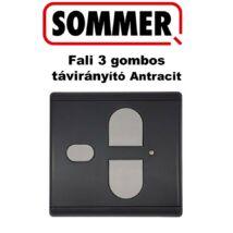 SOMMER Fali háromgombos távirányító Antracit