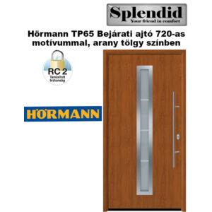 Hörmann bejárati ajtó  TP65 720 motívummal arany tölgy színben