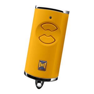 Hörmann HSE 2 BS kétgombos mikro távirányító, sárga színben (króm sapkával)