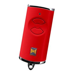 Hörmann HSE 2 BS kétgombos mikro távirányító piros színben (króm sapkával)