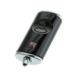 HSE 2 BS kétgombos mikro távirányító fényes fekete színben