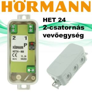 Hörmann HET-24 2-csatornás vevőegység