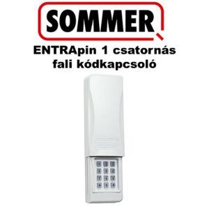 SOMMER ENTRApin, 1 csatornás fali kódkapcsoló