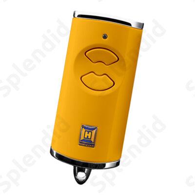 HSE 2 BS kétgombos mikro távirányító, sárga színben