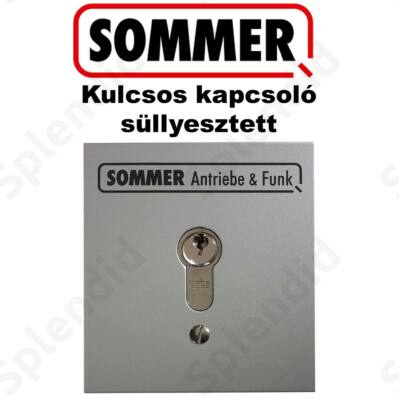 SOMMER Kulcsos kapcsoló cilinderzárral Süllyesztett