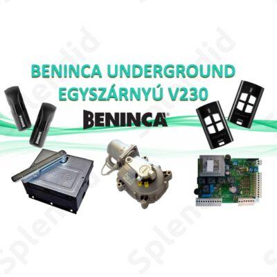 BENINCA UNDERGROUND 230V egyszárnyú kapunyitó szett