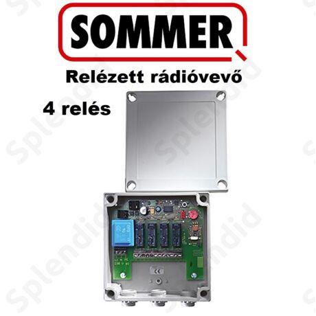 SOMMER Relézett rádióvevő, négy relés kivitel