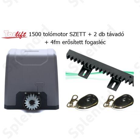 Torlift 1500 tolómotor SZETT 2db távadóval + 4fm erősített fogasléccel