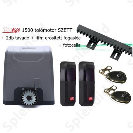 Torlift 1500 tolómotor SZETT 2db távadóval + 4fm fogasléccel + BFT fotocellával