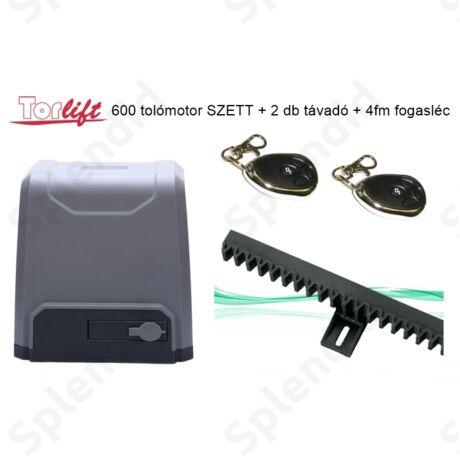 Torlift 600 tolómotor SZETT 2db távadóval + 4fm fogasléccel