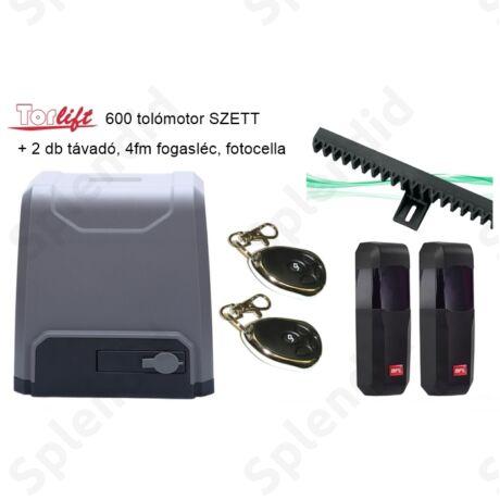 Torlift 600 tolómotor SZETT 2db távadóval + 4fm fogasléccel + BFT fotocellával